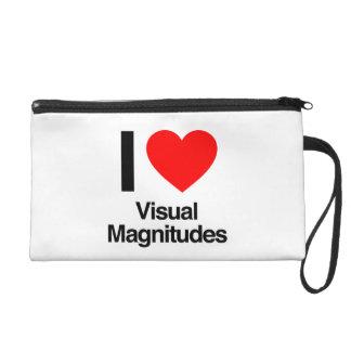 i love visual magnitudes wristlet clutches
