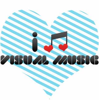 I Love Visual Music Photo Cut Outs