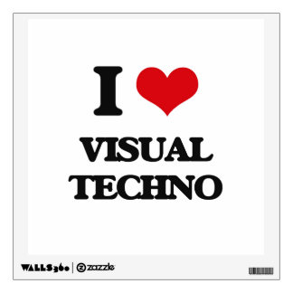I Love VISUAL TECHNO Wall Decals
