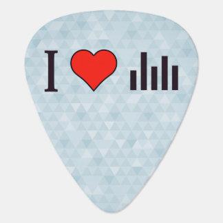 I Love Visualizations Guitar Pick