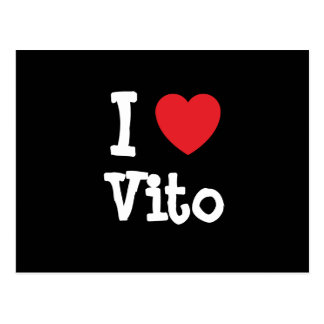 I love Vito heart custom personalized Postcard