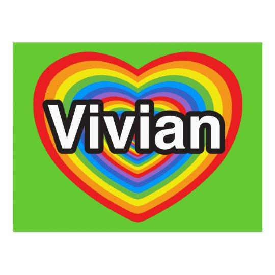 I love Vivian. I love you Vivian. Heart Postcard