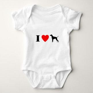 I Love Vizslas Baby Creeper