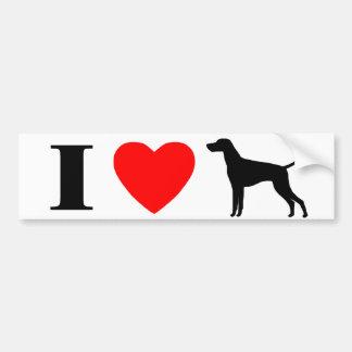 I Love Vizslas Bumper Sticker Car Bumper Sticker