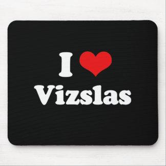 I Love Vizslas Mouse Pad