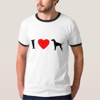 I Love Vizslas Ringer T-Shirt