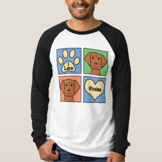 I Love Vizslas T Shirt