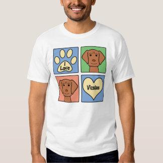 I Love Vizslas Tee Shirt