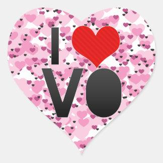 I Love VO Heart Sticker