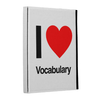 i love vocabulary iPad folio case