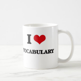 I Love Vocabulary Coffee Mug