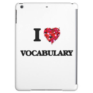I love Vocabulary iPad Air Cover