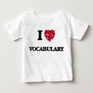 I love Vocabulary Tee Shirts