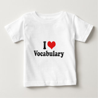 I Love Vocabulary Shirts