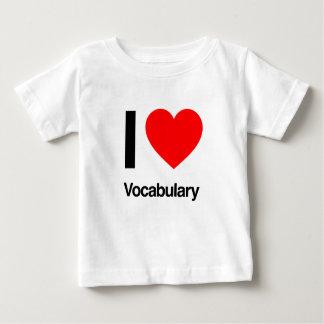 i love vocabulary tshirts