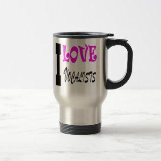 I Love vocalists Coffee Mug