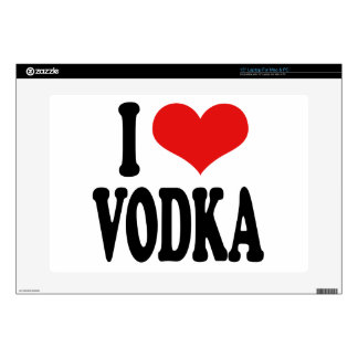 "I Love Vodka 15"" Laptop Skins"