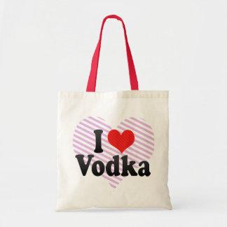 I Love Vodka Tote Bags