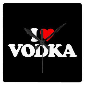 I LOVE VODKA WALL CLOCK