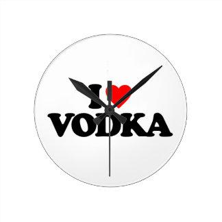 I LOVE VODKA WALLCLOCKS