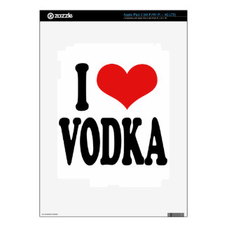 I Love Vodka Decals For iPad 3