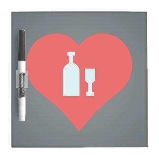 I Love vodka Dry Erase Whiteboard