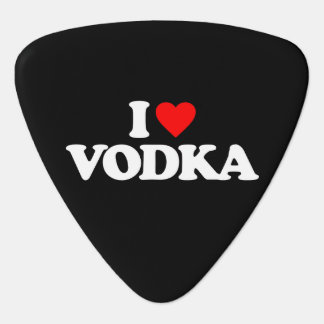 I LOVE VODKA GUITAR PICK