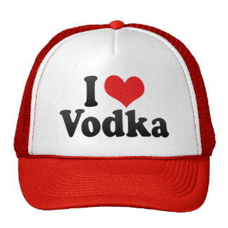 I Love Vodka Mesh Hat