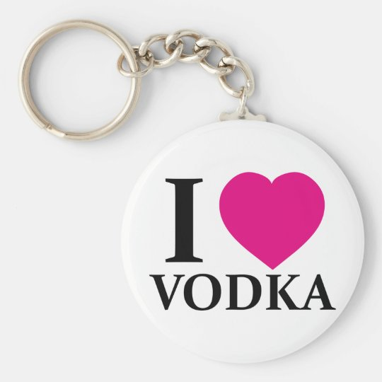I Love Vodka Keychain