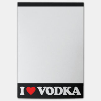I LOVE VODKA POST-IT NOTES