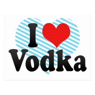 I Love Vodka Postcard