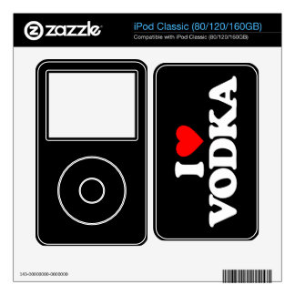 I LOVE VODKA DECAL FOR iPod CLASSIC
