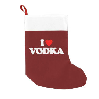I LOVE VODKA SMALL CHRISTMAS STOCKING