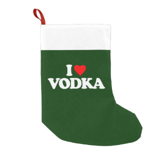 I LOVE VODKA SMALL CHRISTMAS STOCKING