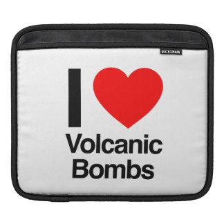 i love volcanic bombs sleeves for iPads