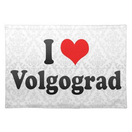 I Love Volgograd, Russia Place Mat
