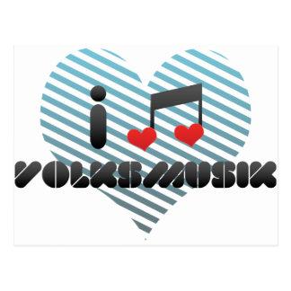 I Love Volksmusik Post Cards