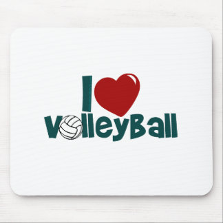I Love Volleball Mouse Pad