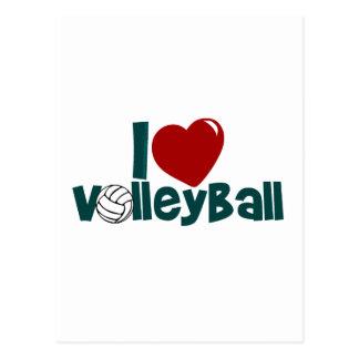 I Love Volleball Postcard