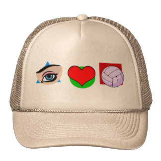 I love volley trucker hats