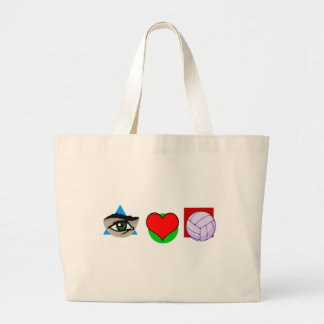 I love volley large tote bag