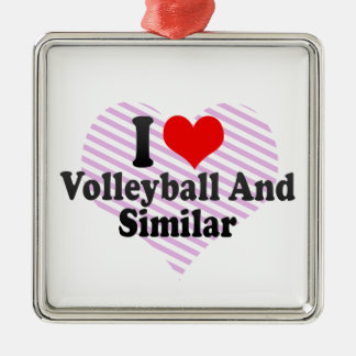 I love Volleyball And Similar Christmas Tree Ornaments