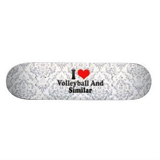 I love Volleyball And Similar Custom Skate Board