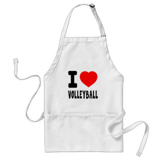 I Love Volleyball Adult Apron