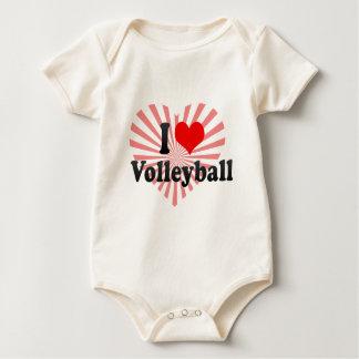 I love Volleyball Baby Bodysuit