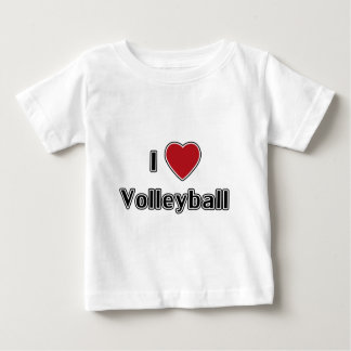 I Love Volleyball Baby T-Shirt