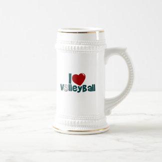 I Love Volleyball Beer Stein