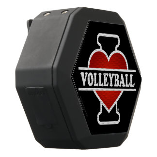 I Love Volleyball Black Bluetooth Speaker