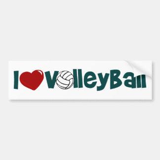 I Love Volleyball Bumper Sticker