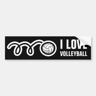 I love volleyball bumper sticker for fan or player